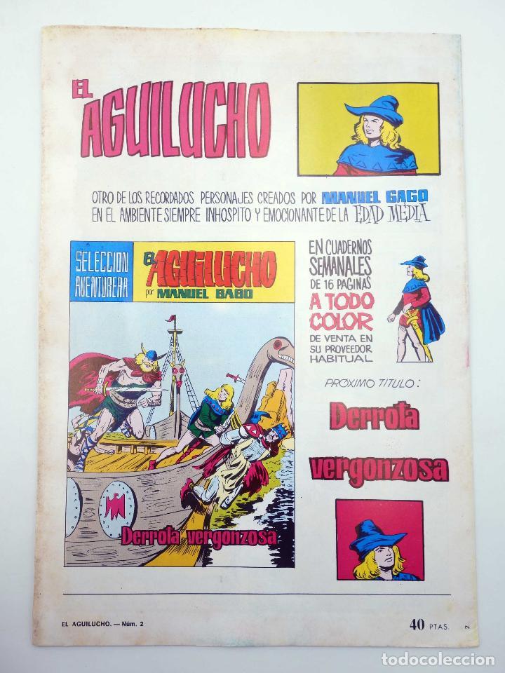 Tebeos: SELECCIÓN AVENTURERA 183. EL AGUILUCHO 2. PIRATAS EN ACCIÓN (Gago) Valenciana, 1981. ORIGINAL. OFRT - Foto 2 - 191500401