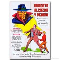 Tebeos: CARTEL PROMOCIONAL ROBERTO ALCAZAR Y PEDRÍN 1976. Lote 118563111