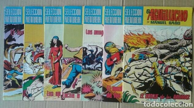 LOTE EL AGUILUCHO, POR MANUEL GAGO. NÚMEROS 5-12-15-21-26-30-34. SELECCIÓN AVENTURERA DE EDIVAL (Tebeos y Comics - Valenciana - Selección Aventurera)