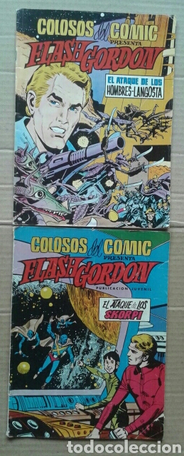 LOTE COLOSOS DEL COMIC PRESENTA FLASH GORDON. NÚMEROS 8 Y 14. EDITORA VALENCIANA, 1980. (Tebeos y Comics - Valenciana - Colosos del Comic)