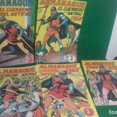 Tebeos: LOTE DE 5 ALMANAQUES DEL GUERRERO DEL ANTIFAZ- REEDICCION 1980. Lote 118996375