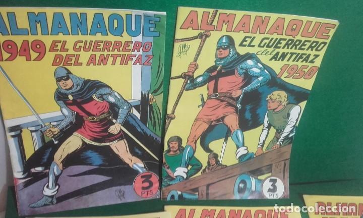 Tebeos: LOTE DE 5 ALMANAQUES DEL GUERRERO DEL ANTIFAZ- REEDICCION 1980 - Foto 2 - 118996375