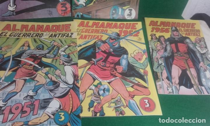 Tebeos: LOTE DE 5 ALMANAQUES DEL GUERRERO DEL ANTIFAZ- REEDICCION 1980 - Foto 3 - 118996375