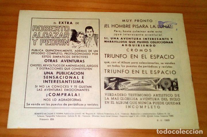 Tebeos: ORIGINAL - ROBERTO ALCAZAR Y PEDRÍN - NÚMERO 856: EL DOCTOR SOMBRA - Foto 7 - 119131671