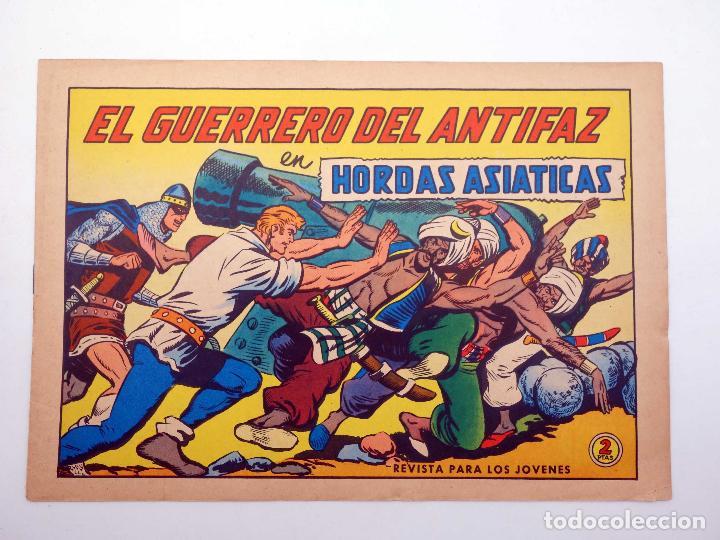 Tebeos: EL GUERRERO DEL ANTIFAZ 620. HORDAS ASIÁTICAS (Manuel Gago) Valenciana, 1965. ORIGINAL - Foto 4 - 187181551