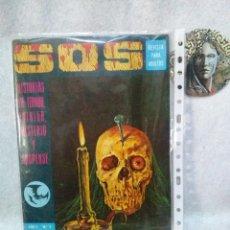 Tebeos: SOS Nº 3 1 ª EPOCA EDITORIAL VALENCIANA 1975 CON AVENTURA COMPLETA DE MANUEL GAGO...PRESENTA USO.. Lote 120942423