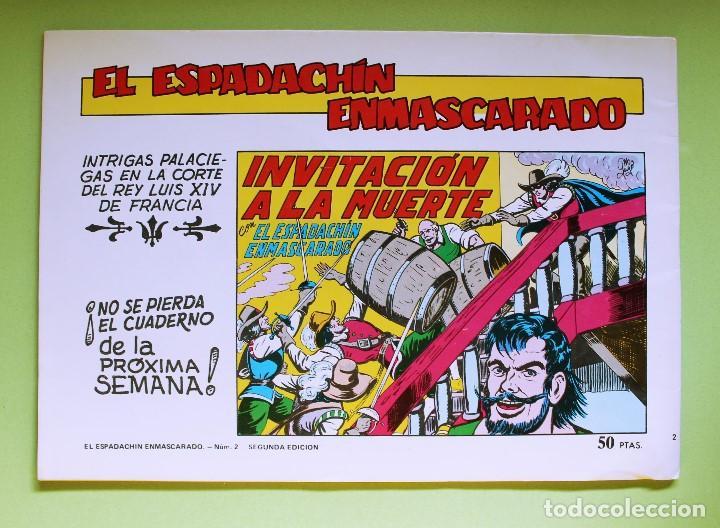 Tebeos: El Espadachín Enmascarado - 2ª Ed. Nº2 - Foto 2 - 121509291