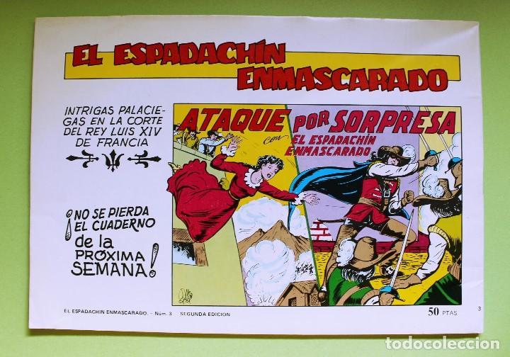 Tebeos: El Espadachín Enmascarado - 2ª Ed. Nº3 - Foto 2 - 121509367