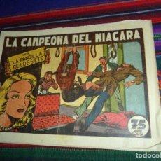 Tebeos: LA PANDILLA DE LOS SIETE Nº 80, LA CAMPEONA DEL NIÁGARA. VALENCIANA 75 CTMS. AÑOS 40. MUY RARO.. Lote 121603595