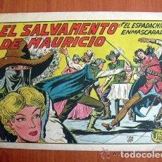 Tebeos: EL ESPADACHIN ENMASCARADO, Nº 212, EL SALVAMENTO DE MAURICIO - EDITORIAL VALENCIANA 1952. Lote 121726395
