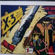 Tebeos: COMIC X-3 CON SU PATRULLA SECRETA Nº3 ORIGINAL - EDT. VALENCIANA 1942 (M-2). Lote 121780023