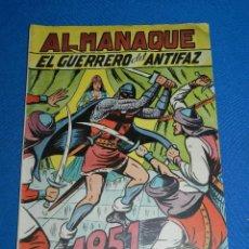 Tebeos: (M7) EL GUERRERO DEL ANTIFAZ ALMANAQUE 1951 , EDT VALENCIANA , SEÑALES DE USO. Lote 121971171