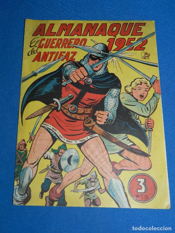 (M7) EL GUERRERO DEL ANTIFAZ ALMANAQUE 1952 , EDT VALENCIANA , SEÑALES DE USO (Tebeos y Comics - Valenciana - Guerrero del Antifaz)