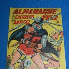 Tebeos: (M7) EL GUERRERO DEL ANTIFAZ ALMANAQUE 1952 , EDT VALENCIANA , SEÑALES DE USO. Lote 121971267