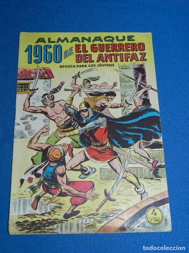 (M7) EL GUERRERO DEL ANTIFAZ ALMANAQUE 1960 , EDT VALENCIANA , SEÑALES DE USO (Tebeos y Comics - Valenciana - Guerrero del Antifaz)