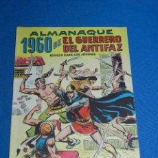 Tebeos: (M7) EL GUERRERO DEL ANTIFAZ ALMANAQUE 1960 , EDT VALENCIANA , SEÑALES DE USO. Lote 121971563
