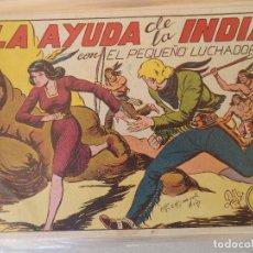 Tebeos: PEQUEÑO LUCHADOR Nº 95 LA AYUDA DE LA INDIA TAMAÑO GRANDE ORIGINAL. Lote 124546499