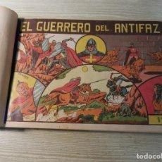 Tebeos: EL GUERRERO DEL ANTIFAZ, ED.VALENCIANA, ORIGINALES, DEL Nº 1 AL 30, ENCUADERNADOS. 0,75,1 Y 1,25 PTS. Lote 125104347