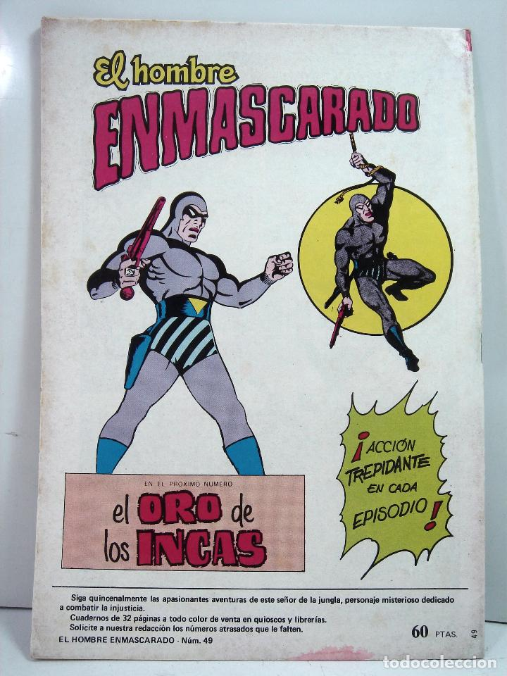 Tebeos: COMIC NUEVO ¡¡ EL HOMBRE ENMASCARADO 1982 -EL MISTERIO DEL RIO-Nº 49 VALENCIANA COLOR - SIN USO - Foto 3 - 125621183