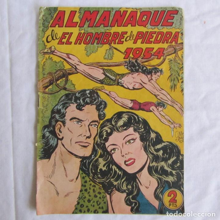 ALMANAQUE DE EL HOMBRE DE PIEDRA 1954 ORIGINAL. ED. VALENCIANA (Tebeos y Comics - Valenciana - Purk, el Hombre de Piedra)