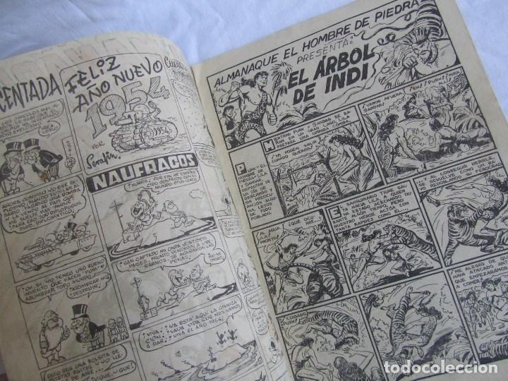 Tebeos: Almanaque de El Hombre de Piedra 1954 Original. Ed. Valenciana - Foto 3 - 126993971