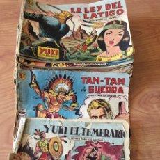 Tebeos: LOTE CÓMIC TEBEOS ANTIGUOS - YUKI EL TEMERARIO DEL NÚMERO 1 AL 62 - VALENCIANA 1958 - ORIGINALES. Lote 127102480