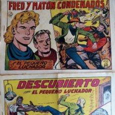 Tebeos: COM-43. EL PEQUEÑO LUCHADOR. 2 EJEMPLARES. NÚMERO 181 Y 204. EDITORIAL VALENCIANA. ORIGINALES. Lote 127590655