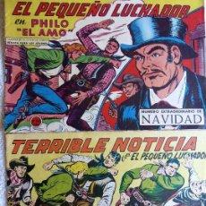 Tebeos: COM-46. EL PEQUEÑO LUCHADOR. 2 NÚMEROS EXTRAS DE NAVIDAD. AÑOS 60. ORIGINALES.. Lote 127592635