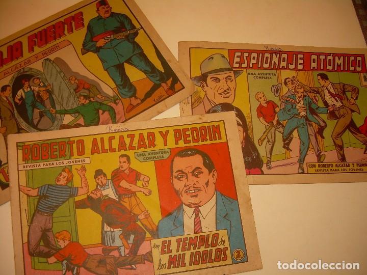 LOTE DE TRES COMIC...ROBERTO ALCAZAR Y PEDRIN. (Tebeos y Comics - Valenciana - Roberto Alcázar y Pedrín)
