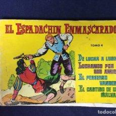 Tebeos: EL ESPADACHIN ENMASCARADO TOMO 4 ED. VALENCIANA 1981 INCLUYE NÚMEROS 13 14 15 16. Lote 127740691