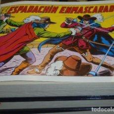 Tebeos: EL ESPADACHIN ENMASCARADO 2ª EDICION COMPLETA 84 NUMEROS EN 4 TOMOS - EDITORIAL VALENCIANA - REEDICI. Lote 127873819