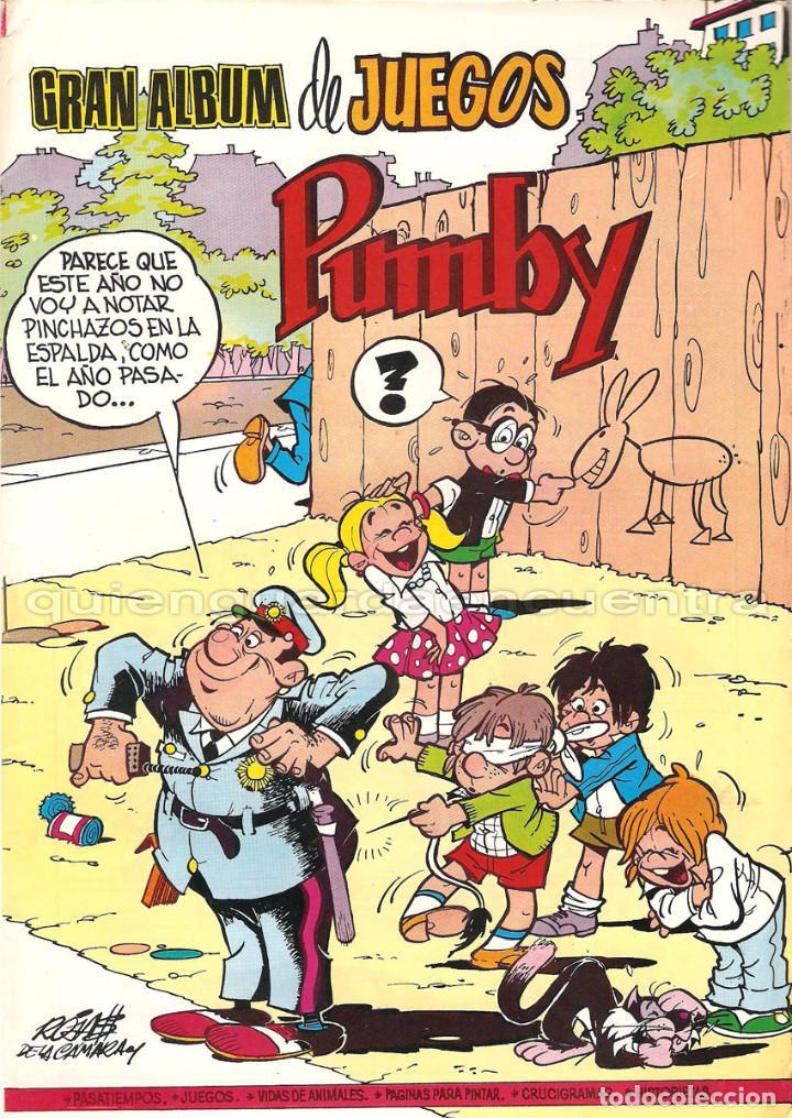 PUMBY LOTE 3 COMICS EDITORIAL VALENCIANA PUMBY AÑO XXX 1203-1204 JUEGOS 59 NUEVOS 1987 (Tebeos y Comics - Valenciana - Pumby)