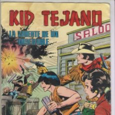 Tebeos: KID TEJANO-VALENCIANA-AÑO 1980-COLOSOS DEL COMIC-COLOR-FORMATO GRAPA-Nº 9-LA MUERTE DE UN MISERABLE. Lote 128650271