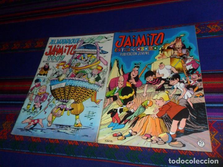 MUY BUEN ESTADO, JAIMITO ALMANAQUE 1967 Y JAIMITO EXTRA DE OTOÑO 1969. VALENCIANA. 10 PTS. (Tebeos y Comics - Valenciana - Jaimito)