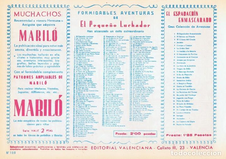 Tebeos: PUEBLO NEGRO CON EL PEQUEÑO LUCHADOR Nº 109 FACSÍMIL - Foto 2 - 129423635