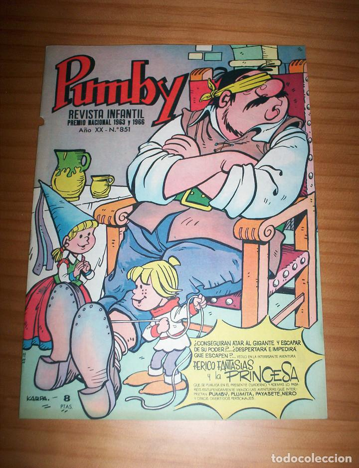 PUMBY - NÚMERO 851 - AÑO 1974 - PERFECTO ESTADO (Tebeos y Comics - Valenciana - Pumby)
