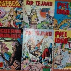 Tebeos: LOTE DE 6 COMICS: 2 KID TEJANO+2 PIEL DE LOBO+LUCHADORES DEL ESPACIO+LA GUERRA DE LOS MUNDOS. Lote 130818384