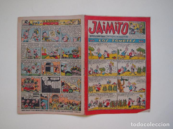 JAIMITO Nº 401 - AÑO XII - REVISTA PARA TODOS - EDITORIAL VALENCIANA 1957 (Tebeos y Comics - Valenciana - Jaimito)