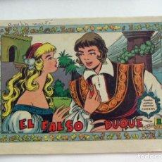 Tebeos: CUENTOS GRAFICOS INFANTILES CASCABEL EL FALSO DUQUE Nº 94 EDITORIAL VALENCIANA 1958. Lote 131113012