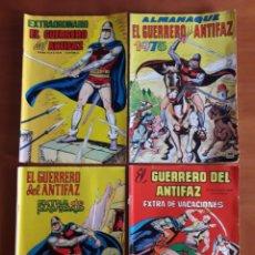 Tebeos: EL GUERRERO DEL ANTIFAZ. 4 NÚMEROS EXTRA O ALMANAQUES. EDITORIAL VALENCIANA. DEFECTOS EN DESCRIPCIÓN. Lote 131527311