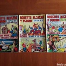 Tebeos: ROBERTO ALCÁZAR Y PEDRÍN. TRES NÚMEROS EXTRA 6, 9 Y 10. EDITORIAL VALENCIANA. BUEN ESTADO EN GENERAL. Lote 131527775