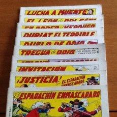 Tebeos: EL ESPADACHÍN ENMASCARADO. DIEZ PRIMEROS NÚMEROS. MANUEL GAGO. SEGUNDA EDICIÓN, 1981. Lote 131536978