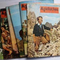 Tebeos: EL AGUILUCHOS - 1976 /79 - LOTE DE 6 EJEMPLARES - TEBEOS ORIGINALES - DIBUJANTE. Lote 131702642