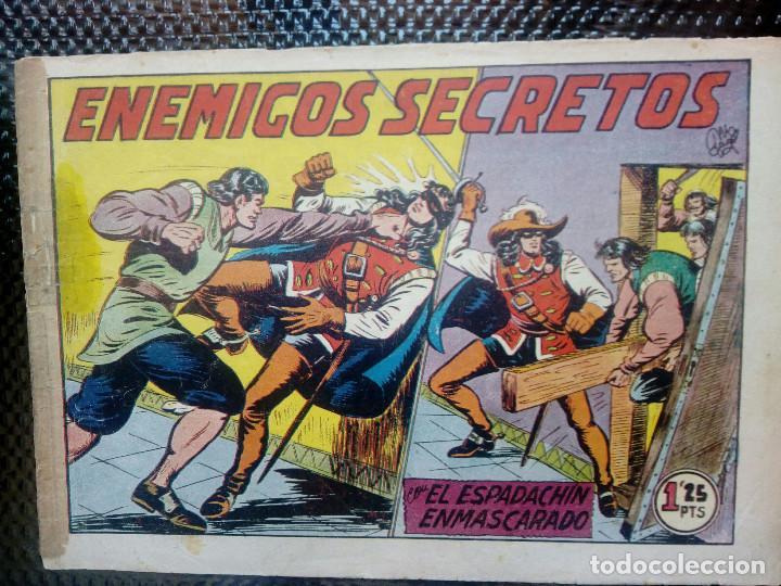 EL ESPADACHIN ENMASCARADO Nº 54 - ORIGINAL - EDT. VALENCIANA 1955 (M-5) (Tebeos y Comics - Valenciana - Espadachín Enmascarado)