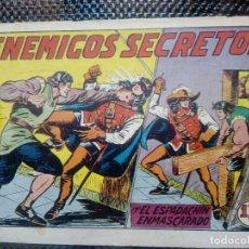 Tebeos: EL ESPADACHIN ENMASCARADO Nº 54 - ORIGINAL - EDT. VALENCIANA 1955 (M-5). Lote 131784030