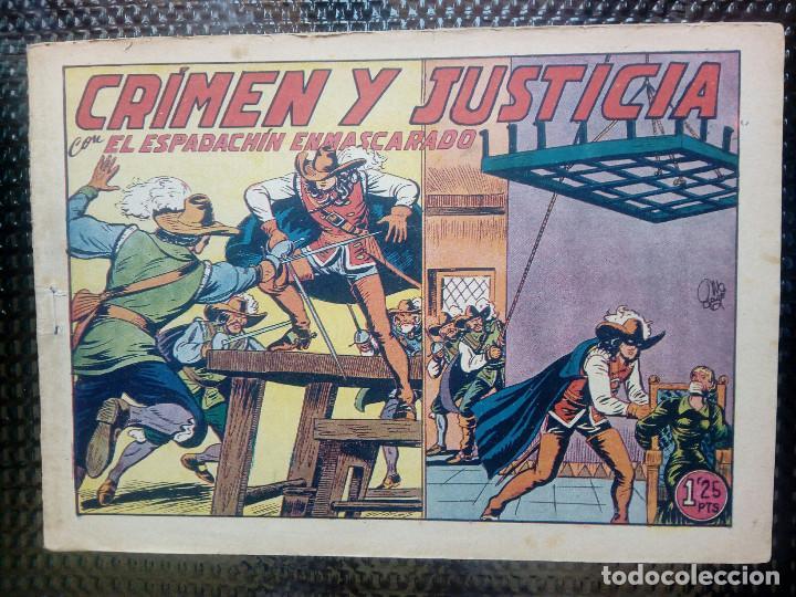 EL ESPADACHIN ENMASCARADO Nº 55 - ORIGINAL - EDT. VALENCIANA 1955 (M-5) (Tebeos y Comics - Valenciana - Espadachín Enmascarado)