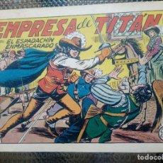 Tebeos: EL ESPADACHIN ENMASCARADO Nº 61 - ORIGINAL - EDT. VALENCIANA 1955 (M-5). Lote 131816174