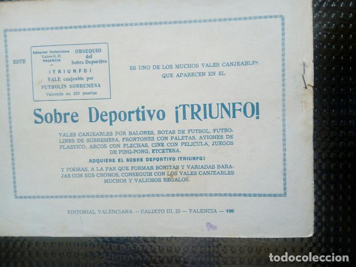 Tebeos: EL ESPADACHIN ENMASCARADO Nº 106 - ORIGINAL - EDT. VALENCIANA 1955 (M-5) - Foto 2 - 131819682