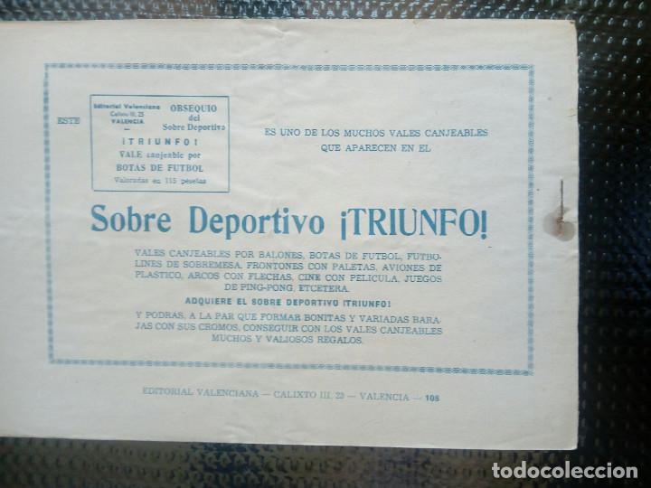 Tebeos: EL ESPADACHIN ENMASCARADO Nº 108 - ORIGINAL - EDT. VALENCIANA 1955 (M-5) - Foto 2 - 131820546