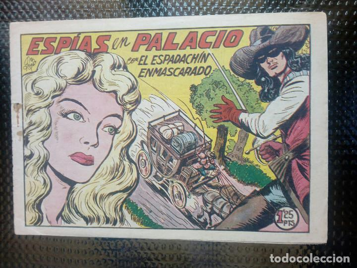 EL ESPADACHIN ENMASCARADO Nº 136 - ORIGINAL - EDT. VALENCIANA 1955 (M-5) (Tebeos y Comics - Valenciana - Espadachín Enmascarado)